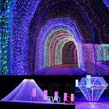 Led Light Curtains 220v Eu Christmas Tree Led Light String Starry Sky Home Curtain