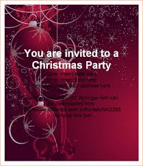 4 christmas party invitation template outline templates