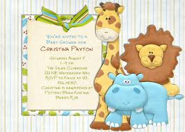 Babyshower Invitation Card Safari Animals Baby Shower Invitations Theruntime Com