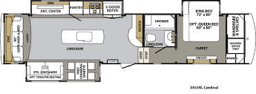Micro Floor Plans by Forest River Cardinal Floor Plans Fifth Wheel Forest Rv Dealer