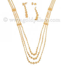 long gold ball necklace images Gold ball necklace and earring set 22 karat gold palace jewelers inc jpg