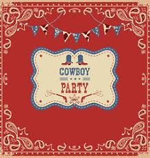cowboy background with western decoration vector image