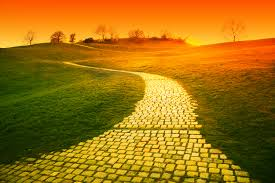 on the other side of the yellow brick road the two cities