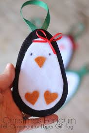 Felt Penguin Christmas Ornament Patterns - christmas penguin ornament and tag felt ornaments paper gifts