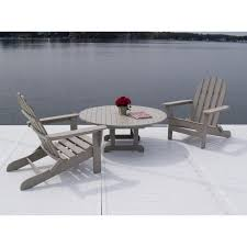 Patio Furniture Milwaukee Wi by Polywood Recycled Plastic Adirondack 5 Pc Conversation Set