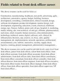 Sample Front Desk Resume front desk officer resume sample