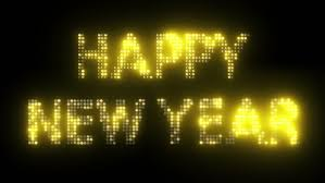 2017 new year s text simulating led lights with glowing effect