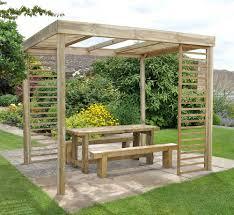 Garden Treasures Pergola Gazebo by Garden Wooden Gazebo And Bamboo Design Home Ideas