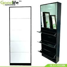 rotating storage cabinet with mirror mirror shoe storage cabinet white hi gloss rotating shoe storage