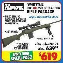 best 223 black friday deals howa whitetail 308 or 223 bolt action rifle package 619