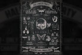 vintage halloween chalk poster by creative different on