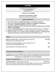 Sample Federal Resume Federal Resume Service Resume Example