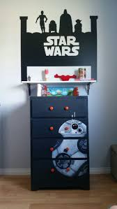 288 best star wars home decor images on pinterest starwars star upcycled boy s dresser with hand drawn and painted star wars bb8 detail not perfect