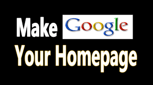 make my home how to make google my homepage in firefox chrome safari