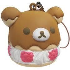 rilakkuma raspberry icing cake squishy charm リラックマ