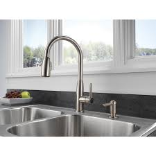 peerless kitchen faucets peerless stainless pull down kitchen faucet 130 at lowe u0027s