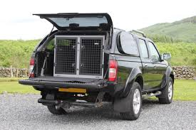 nissan navara 2004 transk9 b9 dog cage dog crate dog transit box fitted to nissan