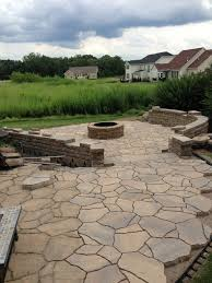 Belgard Fire Pit by Patio Addition With Fire Pit