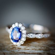 rings custom wedding images Sapphire and diamond engagement ring available in 14k rose white jpg