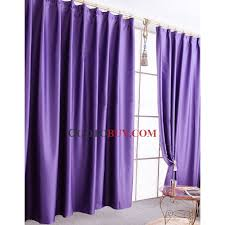 Chic And Modern Blackout Purple Curtains In Polyester Material