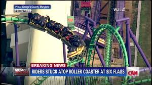 Six Flags Usa Maryland Six Flags Coaster Stopped On Track Cnn Video
