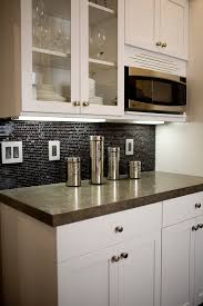black backsplash kitchen black tile backsplash kitchen contemporary with above counter