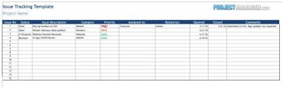 Vendor Management Excel Template Issue Tracking Template Projectmanager Com