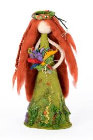 forest fairy figurine felted home decor in woodland style