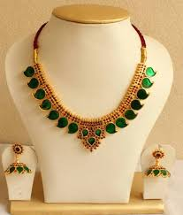 green necklace set images Buy beautiful green mango palakka necklace set online jpg