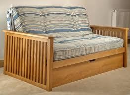 Wooden Frame Sofa Bed Akino Oak Double Futon Sofa Bed For Sale Wooden Futon Sofa Beds