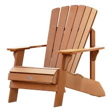 Adirondack Chair Colors Amazon Com Lifetime Faux Wood Adirondack Chair Light Brown