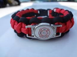 fire survival bracelet images Firefighter thin red line fire rescue charm paracord jpg
