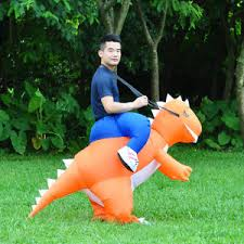 Inflatable Costume Halloween Inflatable Costume Rex Dinosaur Suit Blowup Halloween