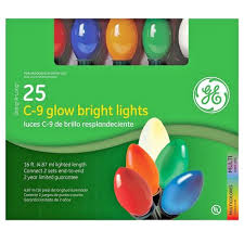 holiday bright lights c9 string along c9 25 glow bright multi color lights shopko
