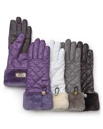 ugg gloves canada sale ugg fontanne quilted tech gloves in black lyst