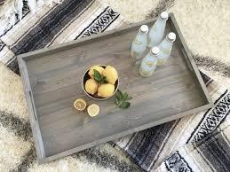 Trays For Coffee Table by Rustic Wooden Ottoman Tray Ottoman Tray Wooden Tray Rustic