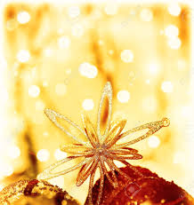 christmas tree ornament and decoration as border shining star