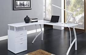 White L Shape Desk Minimalist L Shaped Desk Minimalist Desk Design Ideas
