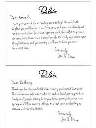 sles of thank you notes wedding thank you note sles wedding ideas 2018
