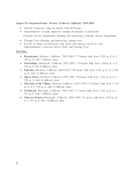 General Contractor Resume Samples by General Contractor Resume