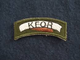 portugal portuguese armed forces nato kfor uniform patch nato