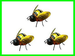 pack of 3 wall small metal bumble bee ornaments 675238936027 ebay