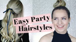 4 easy holiday party hairstyles hair tutorial youtube