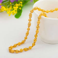 gold chain necklace long images Wide womens mens chain unisex boys girls gold filled necklace jpg