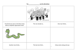 Five Blind Men And The Elephant Brahman By Victoriaanne Teaching Resources Tes