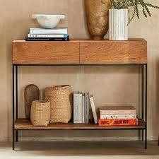 industrial console table with drawers tanner long console table kinsleymeeting com