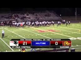paul harding high school yearbook high school football st paul central vs harding