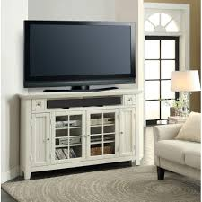 captivating white mahogany wood corner tv stand glass four door