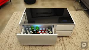 smart coffee table fridge sobro the smart coffee table for cold beers and chill tunes
