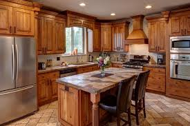 Alder Wood Rustic Kitchen Cabinets Rustic Kitchen Cabinets - Rustic cherry kitchen cabinets